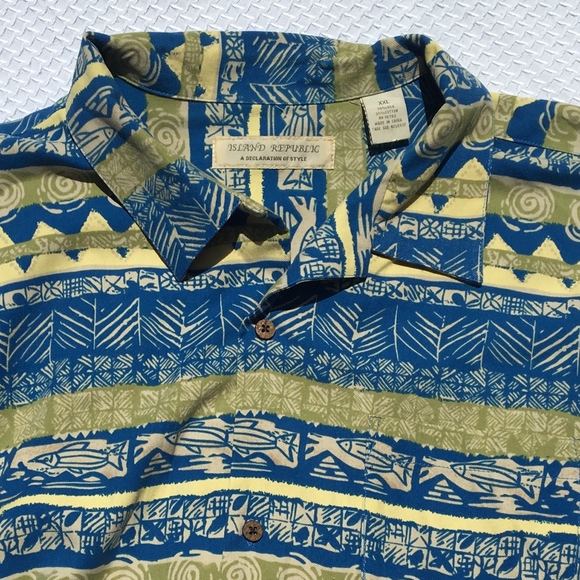 5efa5204 Island Republic Other - Island Republic XXL Button Down Hawaiian Shirt